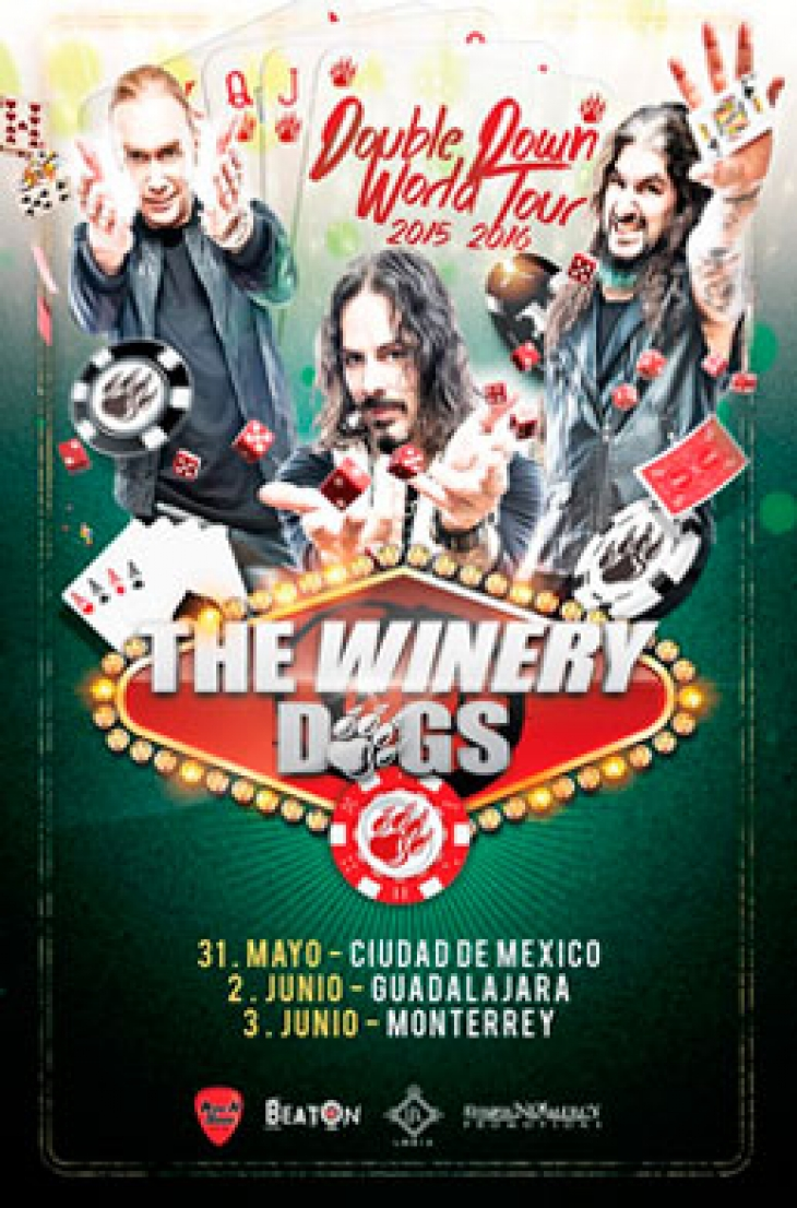 Transporte a The Winery Dogs desde Querétaro